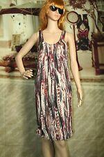 Womens H & M dress sleeveless tank multi color knee length size S