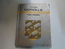 1990 Toyota Corolla Electrical Wiring Diagram Troubleshooting Manual FACTORY
