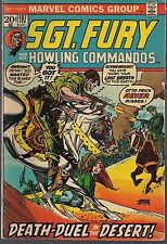 SGT FURY & HOWLING COMMANDOS #107 MARVEL 02/73 DESERT DEATH-DUEL WWII ACTION FN+