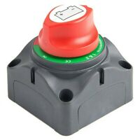 3 Position Disconnect Isolator Master Switch, 12-60V Battery Power Cut Off KO9I2