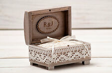 Ring Bearer Box, Wedding Ring Box, Ring Holder, Wooden Box, Rustic Weddings