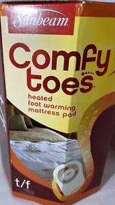 Sunbeam Comfy Toes Heated Foot Warming Mattress Pad Twin/Full 25×45 NEW