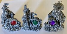 1- Wizard Sorcerer 4� Resin Figurine Dragon Ruby Figure Silver You Choose