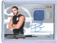 WWE Johnny Gargano 2017 Topps Undisputed Silver Autograph Relic Card SN 29 of 50