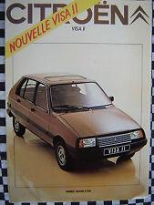 brochure CITROEN VISA II SUPER X E CLUB SPECIAL 1981 FRANCAIS