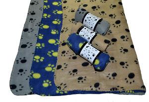 Fleecedecke, Hundedecke Katzendecke Tierdecke Hund Decke Fleece klein blau grau