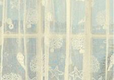 Reef seashells sheer lace kitchen curtains White or Ivory - Brand NEW !