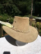 """All Leather Hat By """"The IRON BARK Hat Co."""" AUSTRALIAN  MADE. Size Small."""