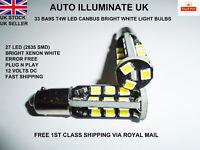 Ba9s 233 T4W 27 Led White Interior Side Lights Bulbs Lamps Canbus Error Free 12V