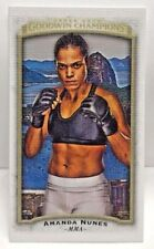 Amanda Nunes 2017 Goodwin Champions Canvas Mini BLANK BACK Super Short Print SSP