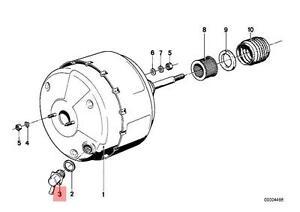 Genuine BMW E12 E21 E28 E30 E34 Brake Booster Hose Connector OEM 34331113652