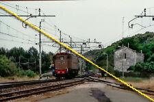 Fotografia  ferrovia treno locomotiva FS E 428 linea ADRIATICA TORINO DI SANGRO