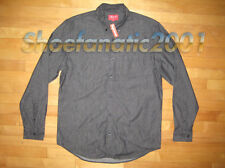 Supreme Denim Oxford Button Up Shirt Black L Large Box Logo
