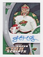 2009 Upper Deck Trilogy Superstar Scripts Autograph Josh Harding Minnesota Wild