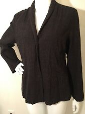 Eileen Fisher Coat Jacket 100% Wool Sz S Brownish/gray Snap Front
