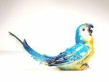More details for medium blue macaw standing parrot bird animal statue figurine figure design #4