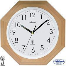 ATLANTA 44 Horloge murale radio-pilotée brun clair Montre Funky massif