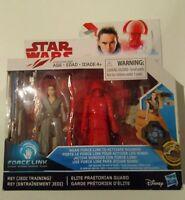 "Star Wars Force Link Rey & Elite Praetorian Guard 3.75"" Action Figure pack 2 new"