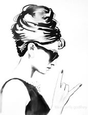 "B&W Audrey Hepburn Rocks Poster Art Print Fashion Icon Unique Gift 16x20"""