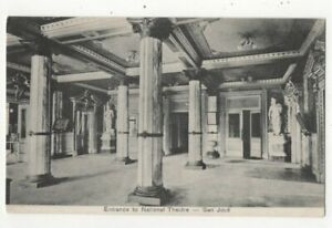 Costa Rica San Jose Entrance To National Theatre Vintage Postcard US170
