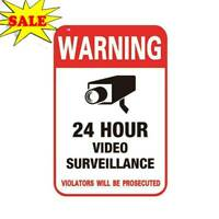 Surveillance Security Camera Video Sticker Warning T1F1 Sign Low Stickers W0K8