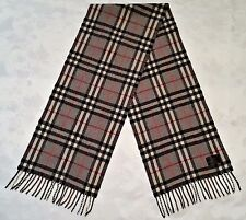 VINTAGE ZOEPPBITZ PLAID & CHECK GRAY RED 100% LAMBSWOOL LONG MEN FRINGE SCARF