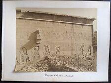 Egypte Temple de Hatbor Denderath albumine albumen vintage c. 1880