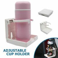 Adjustable Folding Drink Cup Holder Mount Boat Marine Car Truck RV White