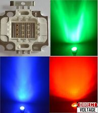 5PCS 10W RGB LED High Power chip. Red Green Blue - 10 Watt Lamp. LED DIY