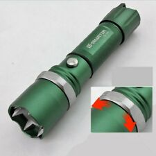 Self Defense Tactical Powerful Torch LED Flashlight Q5 Zoom Flash Light Lamp GN