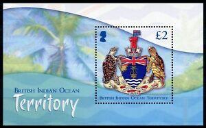 BIOT Coat of Arms Stamps 2014 MNH Crests Turtles CoA 1v M/S