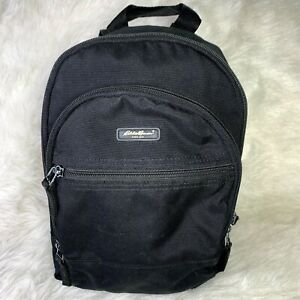 Eddie Bauer Mini Small Black Backpack Day Trip Day Out Bag Unisex