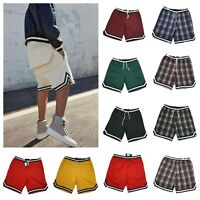 Mens Shorts Fashion Track Sport Jogger Outdoor GYM Casual Stripe Checker SHORTS