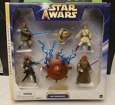 Star Wars Attack Of The Clones Jedi Warriors & Light Sabers Hasbro Jedis