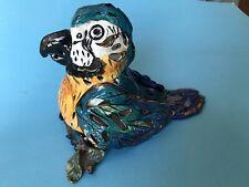 Blue Sky Heather Goldminic Lg whimsical Perching Parrot T-Lite holder/figurine