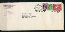 UNITED STATES 1932 EMBOSSED ENVELOPE ADD'L FRANKING NEW YORK COVER TO  NY