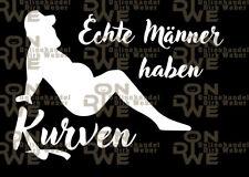 "Aufkleber ""Männer und Kurven"" Autoaufkleber, Funaufkleber, Fun (1257)"