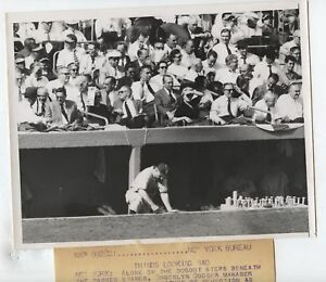 Original 1955 Walter Alston Brooklyn Dodgers Wire Photo