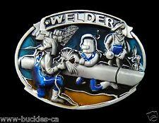 Welder Welding Shop Trade Occupation Workers Belt Buckle