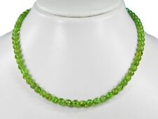 Gorgeous Necklace in Peridot 925 Silver Clasp in Ball Shape ø-6 mm