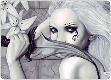 Fantasy Art ACEO PRINT Fairy Gothic assassin lilies wc