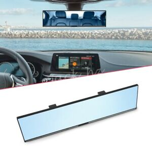Blue Convex Antiglare Glass Mirror For Car Vehicle Interior Rearview Extension