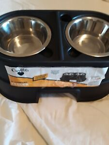 "Our Pets Double Comfort Feeder 8"" Healthy Pet Diner Raised Dog Bowls Elevated"