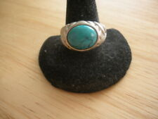 Ross Simons Sterling Silver Turquoise Ring ~ Size 8