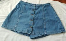 Forelli Jeans Wear Denim Skort Blue Size  32  18 Zipper Back
