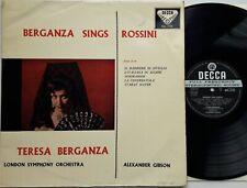 SXL 2132 Berganza Sings Rossini - Gibson / LSO LP 1959 Decca ED1 Stereo EX