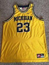 VTG Michigan Wolverines Nike Basketball 23 Jersey SZ XL Maurice Taylor FAB FIVE