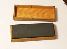 Vintage Acme Oil Stone A6WB  Knife Axe Scissors Sharpening Stone in Wooden Case