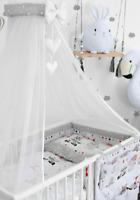 Crib Chiffon Canopy//Drape//Mosquito Net Heart Grey Crib Holder