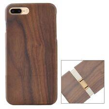 Pour Iphone 8 Plus Housse de Protection Pare-Chocs en Bois Véritable Noyer Etui